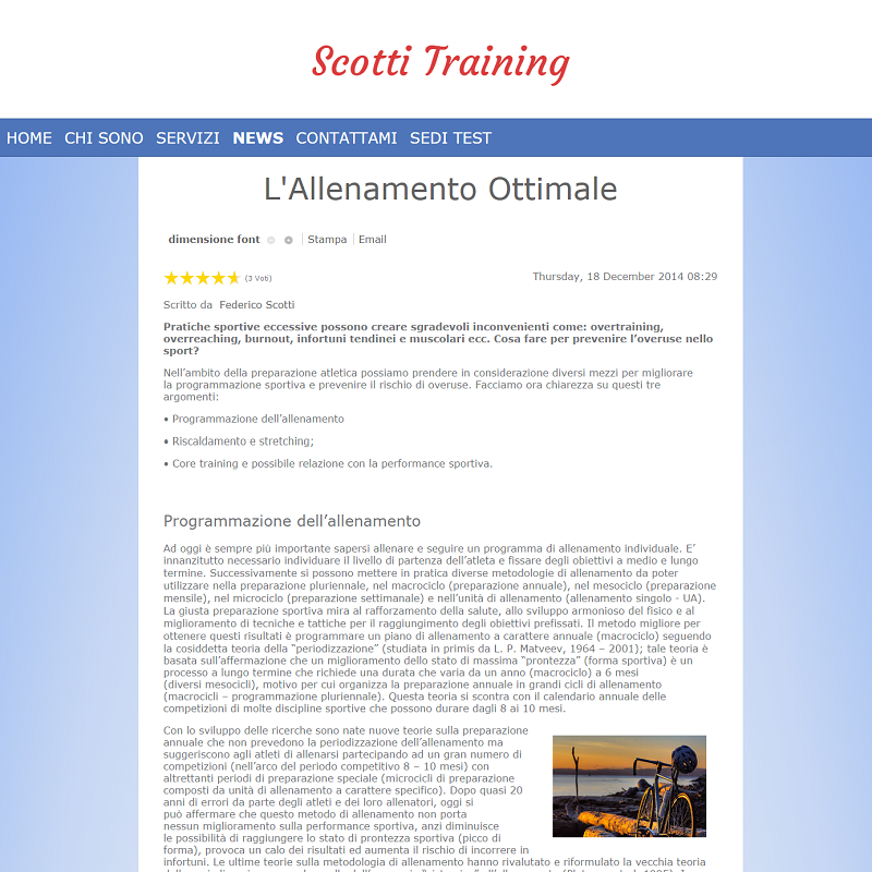 Blog Scotti Training Website